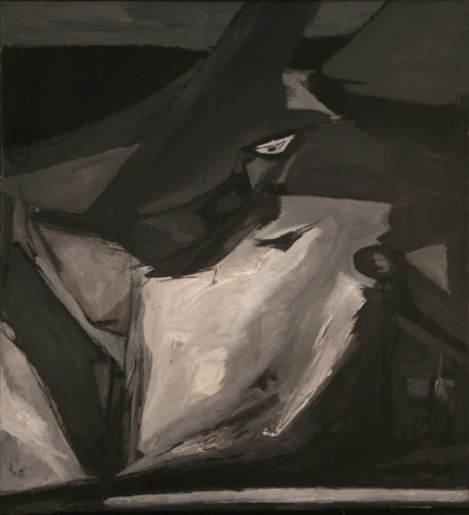 Ram Kumar UNTITLED (BLACK BIRD) c. 1960s Oil on canvas 34.5 x 31 in.