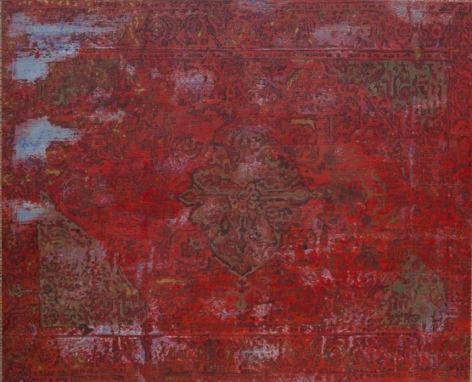G. R. Iranna RED CARPET 2015 Acrylic on tarpaulin 54 x 66 in.