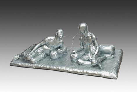 Debanjan Roy INDIA SHINING VII 2009 Fiberglass and Photographic print 48 x 36 x 108 in. (sculpture) 42 x 60 in. (photograph) edition 1/5