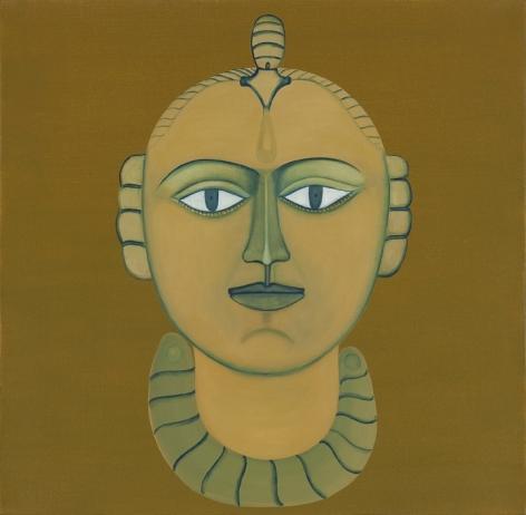 Rekha Rodwittiya Nayika (Orange) 2009 Acrylic and oil on canvas 24 x 24 in.