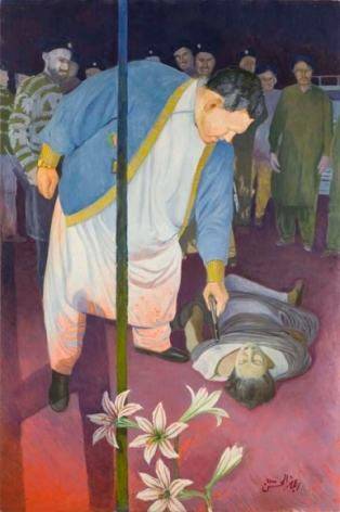Ijaz ul Hassan A VIEW THROUGH WINDOW-THE TERRORIST 2000 Oil on canvas 72 x 48 in.