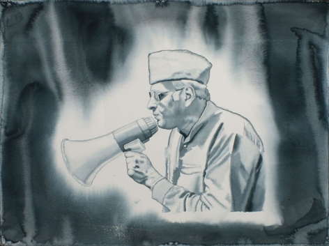 T. V. Santhosh UNTITLED 2 (POLITICIAN) 2010 Watercolor on paper 22 x 30 in.