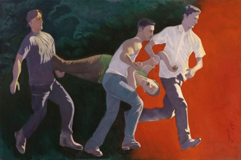 Ijaz ul Hassan JOURNEY OUT OF DARKNESS 2007 Oil on canvas 48 x 72 in.