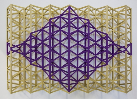 Rasheed Araeen Jaamni (Purple Diamond) 1971 (2014) Wood and paint 31 x 47 x 7 in.