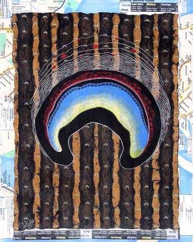 Talha Rathore THE HEART SETTLES II 2007 Gouache on Wasli 14 x 11 in.  SOLD