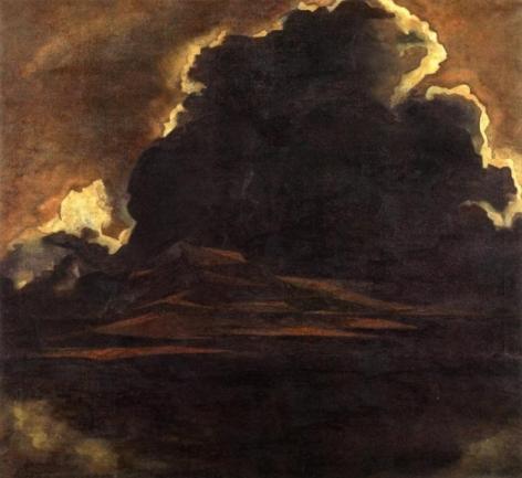 Jehangir Sabavala THE THUNDERCLOUD 1963 Oil on canvas 34 x 37 in.