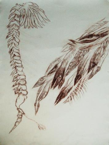 Dhali Al Mamoon LOST MEMORY 3 2014 Lead pencil on paper 42 x 30 in.