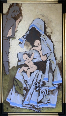 M. F. Husain UNTITLED (MOTHER TERESA) 2004 Acrylic on canvas 67.5 x 36 in.