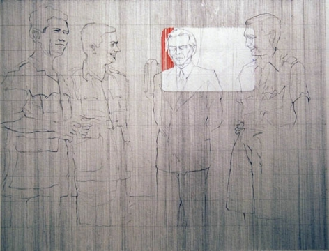 Hasnat Mehmood UNTITLED III 2007 Pencil, ink on paper 20 x 30 in.