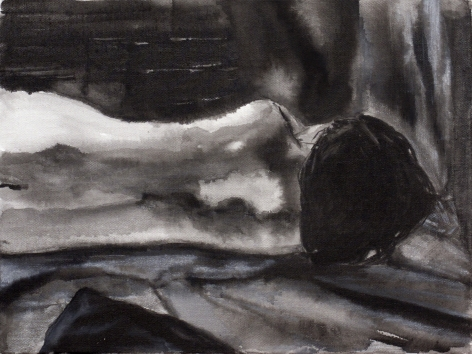 Sharmistha Ray NUDE 6 2013 Charcoal and ink on canvas 12 x 16 in.
