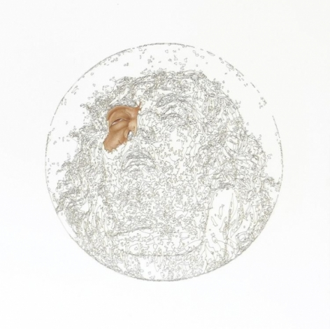 Muhammad Zeeshan SPECIAL 'SIRI' SERIES 2 2011 Gouache and laser score on wasli 18 x 18 in