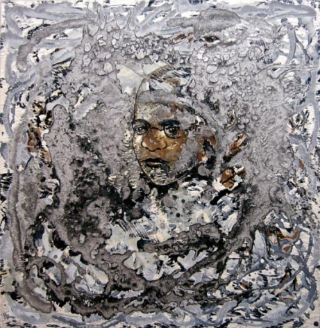 Jayashree Chakravarty UNTITLED 6 (FACE OF A CHILD) 2009 Acrylic and oil on canvas 35 x 36 in.