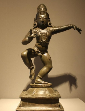 Saint Sambandar Late Chola Period Bronze 12th Century Height: 18.5 in.
