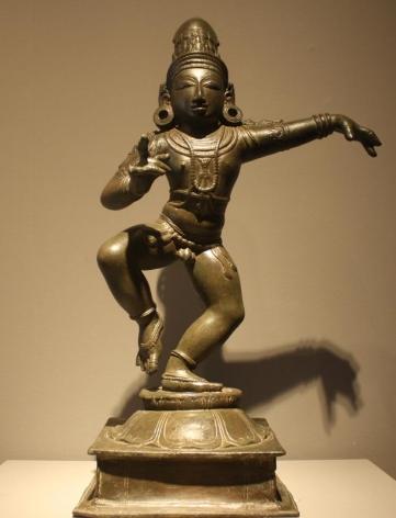 Saint Sambandar Late Chola Period Bronze 12th Century Height: 18.5 in.