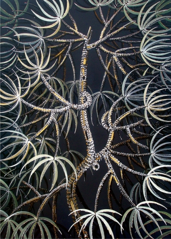 Rajan Krishnan  Plant from the Grove by the River 2 2011 Acrylic on canvas 84 x 60 in