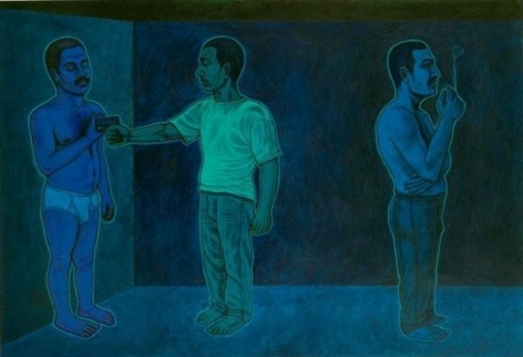 Anwar Saeed Habits of Being 2009 Acrylics on paper 34 x 50 in NFS