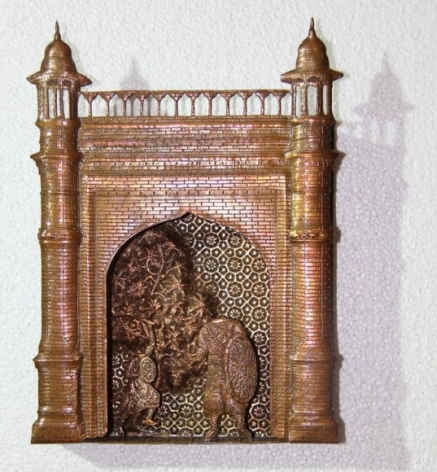 Adeela Suleman GATES OF FIRE 3 (Ed. of 3) 2014 Hand-beaten copper 12 x 8.5 in.