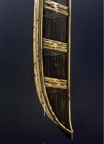 Rajan Krishnan BOAT FROM THE HOUSE OF THE FERRY MAN 2011 Acrylic on canvas 84 x 60 in.