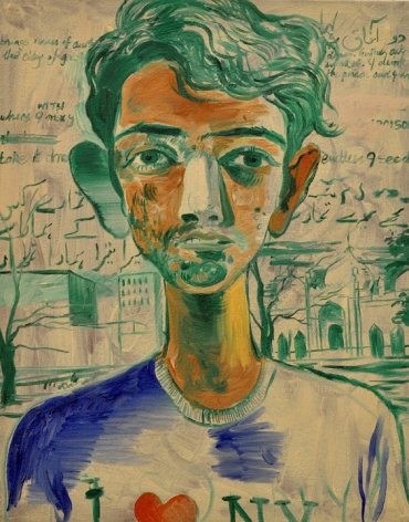 Salman Toor Cobbled-Together Boy 2015 Oil on canvas 19 x 15 in.