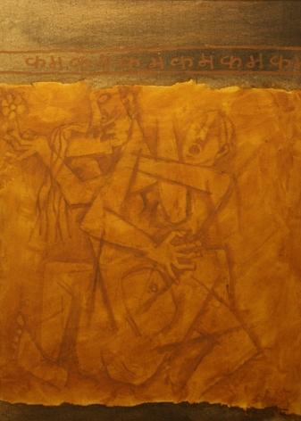 M. F. Husain KAMA Oil and canvas on board 36 x 25.5 in.