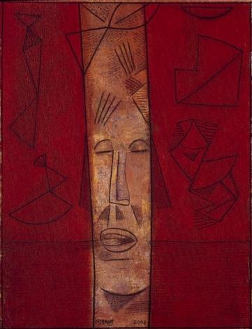 Neeraj Goswami ETERNAL THIRST 2008 Acrylic on canvas 42 x 32 in.
