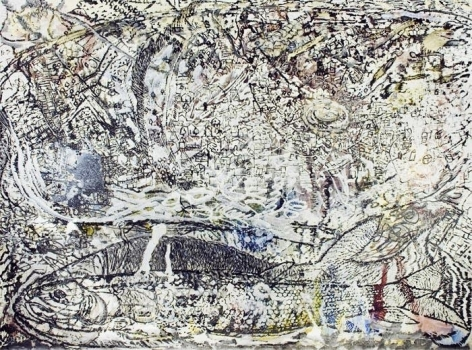 Jayashree Chakravarty UNTITLED 1 (THE EVOLVING SPACE) 2009 Acrylic and oil on canvas 90 x 120 in. NFS