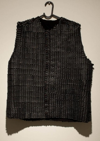 Amna Ilyas UNTITLED 2 (Waistcoat) Fibreglass, cloth. mobile phone pads 25.5 x 23.5 in.
