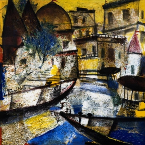 Paresh Maity CITY OF PARADISE 2015 Oil on canvas 48 x 48 in.