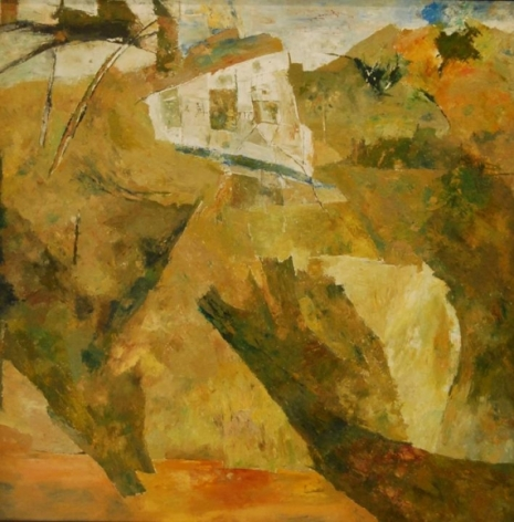 Ram Kumar UNTITLED LANDSCAPE (HOUSE) 2003 Oil on canvas 36 x 36 in.