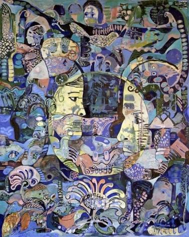 Sanatan Saha UNTITLED II 2007 Acrylic and oil on canvas 60 x 48 in.