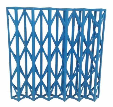Rasheed Araeen CIRCKLEWOOD BROADWAY 1967/2014 Painted wood 24 x 24 x 4 in.