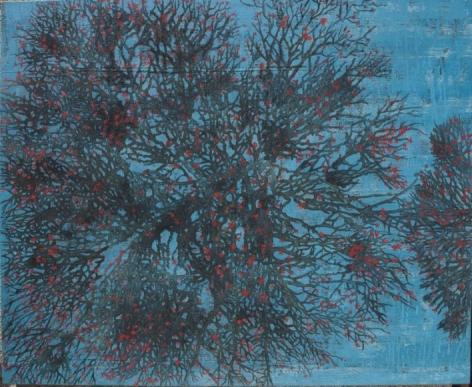 G.R. Iranna WITNESS 2015 Acrylic on tarpaulin 54 x 66 in.