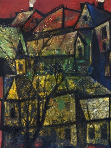 Paresh Maity Winter of Raga 2015 Oil on canvas 48 x 36 in.