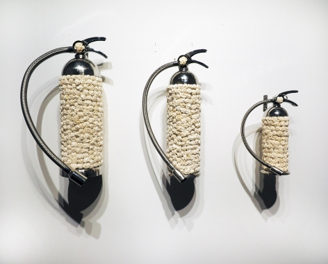 P.D. Pulak   Untitled (For Small Medium Large fires)  2019  Shola flowers, resin  18 x 32.5 in.