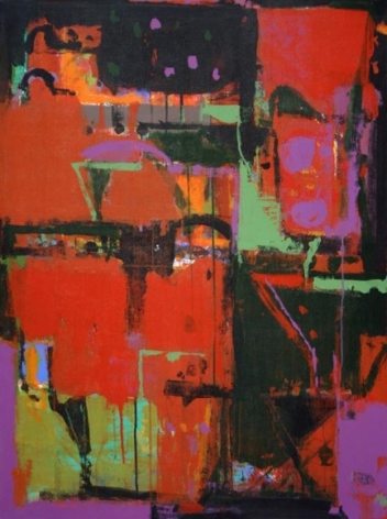 John Tun Sein UNTITLED ABSTRACT 1 2007 Acrylic on Canvas 40 X 30 in.   SOLD