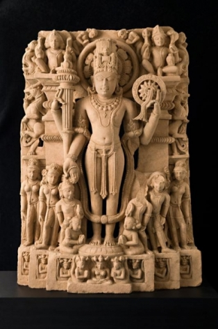 Vishnu India, Haryana or Madhya Pradesh Sandstone c. 10th Century 28 in.