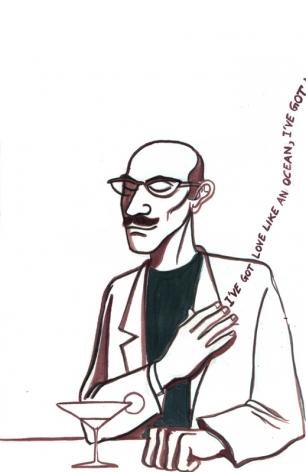 Sarnath Banerjee SOUL 3 2012 Ink on paper 11 x 8 in.