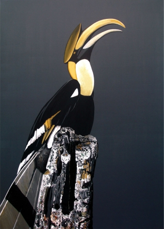Rajan Krishnan  Bird from the Grove by the River  2011 Acrylic on canvas 84 x 60 in.