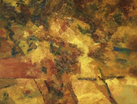 Ram Kumar Untitled Abstract 4 2007 Oil on canvas 30 x 40 in.