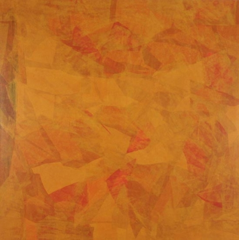Yogesh Rawal UNTITLED 22 2007 Tissue paper, cellulose & synthetic resin on wood 48 x 48  SOLD