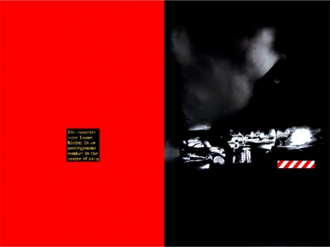 Rathin Kanji INVESTIGATION IS ON 2008 Acrylic on canvas 72 x 96 in. (Diptych)
