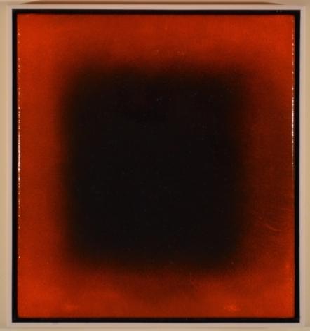 Natvar Bhavsar Saumya XVII (Red) 2016  Oil on canvas 25 x 23 in.