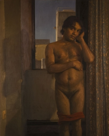 Abir Karmakar IN THE OLD FASHIONED WAY 3 2007 Oil on canvas 89 x 72 in.  SOLD