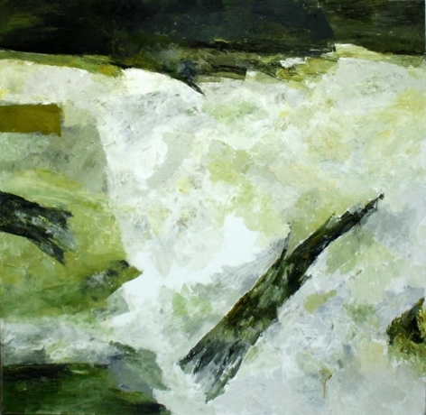 Ram Kumar UNTITLED ABSTRACT 3 2006 Oil on canvas 36 x 36 in.