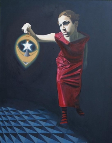 Sana Arjumand MASSIVE HUMAN SEARCH - 3 2010 Oil on canvas 54 x 42 in.