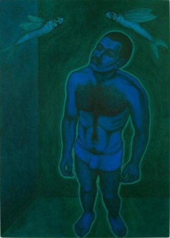 Anwar Saeed Dreams Involving Water 2009 Acrylics and charcoal on paper 39 x 28 in NFS