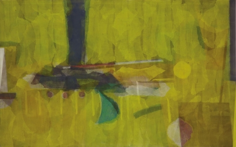 Manish Pushkale INTRUSION 2008 Oil on canvas 55 x 90 in.