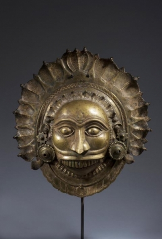 Shiva- Bhuta Mask Southern India, Karnataka, Tulu Naidu Region c. 18th century Copper alloy Height: 12.5 in.