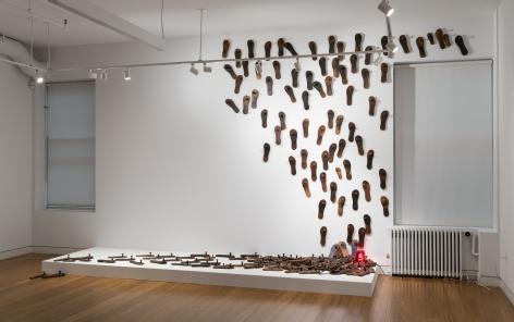 G.R. Iranna   Untitled (Paduka Installation)  2013  Mixed media installation  Dimensions variable