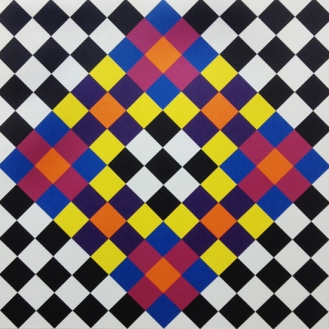 Rasheed Araeen Opus F1 2016 Acrylic on canvas 63 x 63 in.
